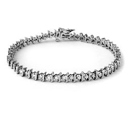 1.0 CTW Certified VS/SI Diamond Bracelet 10K White Gold - REF-82N5Y - 13272