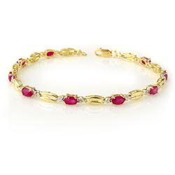3.25 CTW Ruby Bracelet 10K Yellow Gold - REF-45H5W - 11784