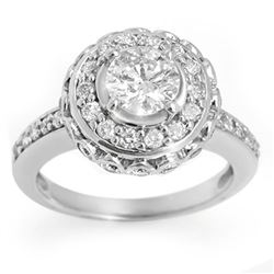 2.04 CTW Certified VS/SI Diamond Ring 18K White Gold - REF-322K8R - 11398