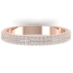 1.75 CTW Certified VS/SI Diamond Micro Eternity Ring 14K Rose Gold - REF-130T9X - 30268