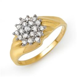0.25 CTW Certified VS/SI Diamond Ring 10K Yellow Gold - REF-27K5R - 13848
