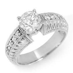 1.26 CTW Certified VS/SI Diamond Ring 14K White Gold - REF-283N5Y - 11541
