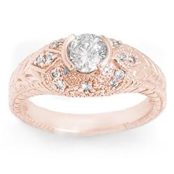 0.75 CTW Certified VS/SI Diamond Ring 14K Rose Gold - REF-115X8T - 11649