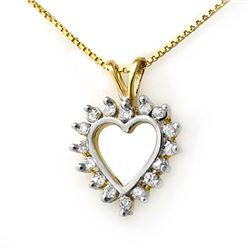 0.25 CTW Certified VS/SI Diamond Pendant 18K Yellow Gold - REF-29N5Y - 13330