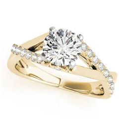 0.77 CTW Certified VS/SI Diamond Solitaire Ring 18K Yellow Gold - REF-126T9X - 27500