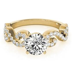 0.90 CTW Certified VS/SI Diamond Solitaire Ring 18K Yellow Gold - REF-131K3R - 27854