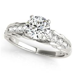 0.70 CTW Certified VS/SI Diamond Solitaire Ring 18K White Gold - REF-114R5K - 27531