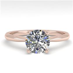 1.01 CTW VS/SI Diamond Engagement Designer Ring 18K Rose Gold - REF-284T8X - 32399