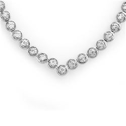 4.0 CTW Certified VS/SI Diamond Necklace 10K White Gold - REF-298F2M - 11675