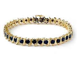 7.0 CTW Vs Certified Black Diamond Bracelet 10K Yellow Gold - REF-214H5W - 13822