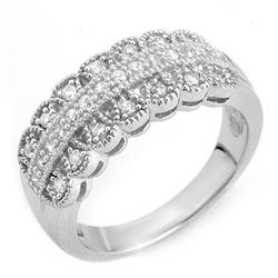0.50 CTW Certified VS/SI Diamond Ring Solid 14K White Gold - REF-62K2R - 10053