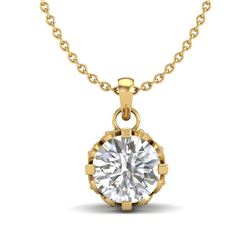 0.85 CTW VS/SI Diamond Art Deco Stud Necklace 18K Yellow Gold - REF-138R4K - 36841