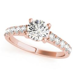 1.05 CTW Certified VS/SI Diamond Solitaire Ring 18K Rose Gold - REF-196R2K - 28129
