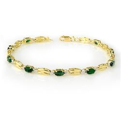 2.70 CTW Emerald Bracelet 10K Yellow Gold - REF-45R5K - 11782