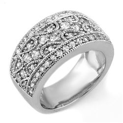 1.50 CTW Certified VS/SI Diamond Ring 18K White Gold - REF-154W2H - 11152