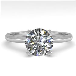 1.54 CTW VS/SI Diamond Engagement Designer Ring 18K White Gold - REF-539R3K - 32436