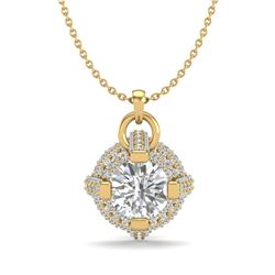 1.57 CTW VS/SI Diamond Micro Pave Stud Necklace 18K Yellow Gold - REF-229F3M - 36955