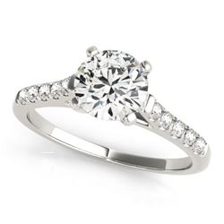 0.97 CTW Certified VS/SI Diamond Solitaire Ring 18K White Gold - REF-187X3T - 27579