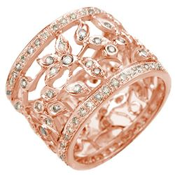 1.30 CTW Certified VS/SI Diamond Ring 14K Rose Gold - REF-103W3H - 10658