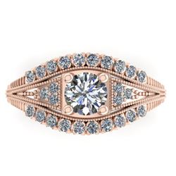 1.50 CTW Solitaite Certified VS/SI Diamond Ring 14K Rose Gold - REF-232K2R - 38548