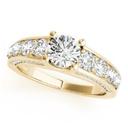 3.05 CTW Certified VS/SI Diamond Solitaire Ring 18K Yellow Gold - REF-675R4K - 28142