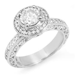 2.0 CTW Certified VS/SI Diamond Ring 18K White Gold - REF-430M9F - 11365