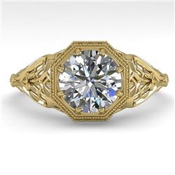 1.50 CTW VS/SI Diamond Solitaire Engagement Ring 18K Yellow Gold - REF-547X6T - 36052