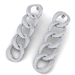 5 CTW Certified VS/SI Diamond Earrings 18K White Gold - REF-340Y9N - 40073