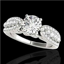 2 CTW H-SI/I Certified Diamond Solitaire Ring 10K White Gold - REF-254K5R - 35268