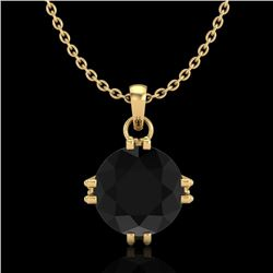 1 CTW Fancy Black Diamond Solitaire Art Deco Stud Necklace 18K Yellow Gold - REF-67K3R - 37543