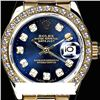 Image 1 : Rolex Men's 18K Yellow President, QuickSet, Diamond Dial & Diamond Bezel - REF-1243W6K
