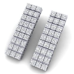4 CTW Certified SI/I Diamond Earrings 18K White Gold - REF-235Y2N - 39947