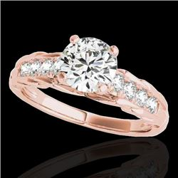 1.2 CTW H-SI/I Certified Diamond Solitaire Ring 10K Rose Gold - REF-158R2K - 34935
