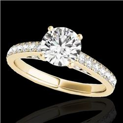 1.5 CTW H-SI/I Certified Diamond Solitaire Ring 10K Yellow Gold - REF-172Y8N - 34864