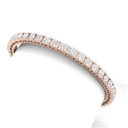 10 CTW Certified VS/SI Diamond Bracelet 18K Rose Gold - REF-663M4F - 39906