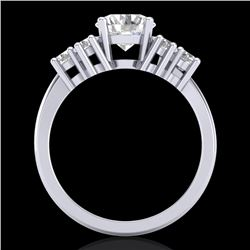 2.1 CTW VS/SI Diamond Solitaire Ring 18K White Gold - REF-465F2M - 36941