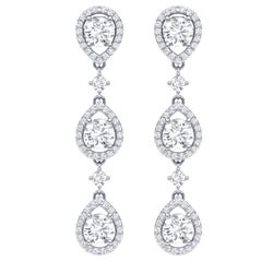 4.45 CTW Royalty Designer VS/SI Diamond Earrings 18K White Gold - REF-538K2R - 39105