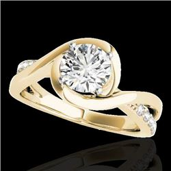 1.15 CTW H-SI/I Certified Diamond Solitaire Ring 10K Yellow Gold - REF-163F6M - 34837