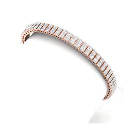 8 CTW Certified SI/I Diamond Bracelet 18K Rose Gold - REF-402X3T - 39936