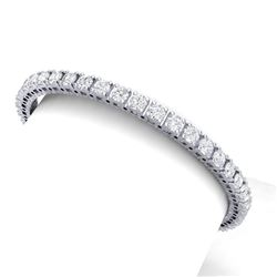 10 CTW Certified VS/SI Diamond Bracelet 18K White Gold - REF-663W4H - 39905