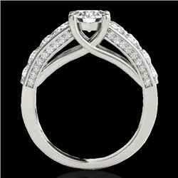 3.05 CTW H-SI/I Certified Diamond Solitaire Ring 10K White Gold - REF-434K5R - 35516