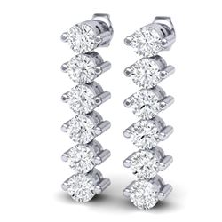 3 CTW Certified VS/SI Diamond Earrings 18K White Gold - REF-200X5T - 40019