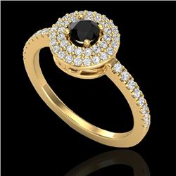 0.80 CTW Micro VS/SI Diamond Designer Ring 18K Yellow Gold - REF-59T5X - 20894