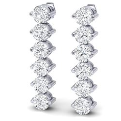 6 CTW Certified SI/I Diamond Earrings 18K White Gold - REF-436M4F - 39998