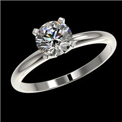 1.07 CTW Certified H-SI/I Quality Diamond Solitaire Engagement Ring 10K White Gold - REF-141K3R - 36