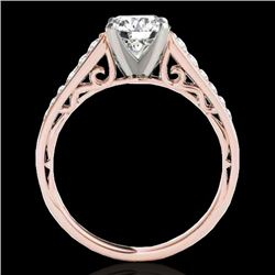 1.35 CTW H-SI/I Certified Diamond Solitaire Ring 10K Rose Gold - REF-156H4W - 34908