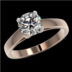 1.50 CTW Certified H-SI/I Quality Diamond Solitaire Engagement Ring 10K Rose Gold - REF-410N9Y - 330