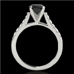 1.2 CTW Certified Vs Black Diamond Solitaire Ring 10K White Gold - REF-48Y2N - 34973