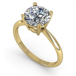 2.03 CTW Certified VS/SI Diamond Engagement Ring 14K Yellow Gold - REF-1012N5Y - 30611