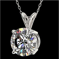 2 CTW Certified H-SI/I Quality Diamond Solitaire Necklace 10K White Gold - REF-561N5Y - 33230